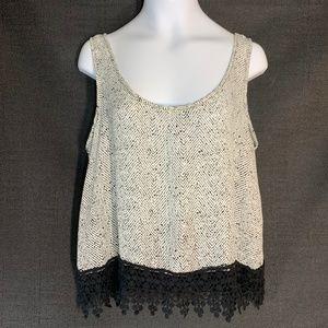 Soprano Black/White Chevron Spatter Camisole Lace